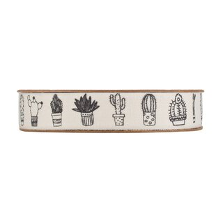 Bright decoration ribbon with black cactus, self...