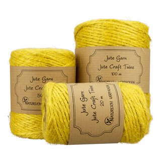 Jute twine, yellow, 20 m, 50 m or 100 m spoole