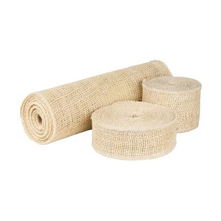 Jute ribbon Sand, 5 cm, 8 cm or 30 cm wide, solid...