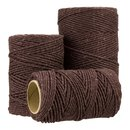 Bakers twine, Brown, single color, 2 mm, 20, 50 or 100 m spool