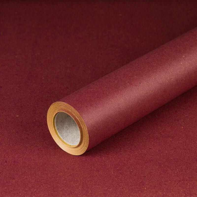 Gift wrapping paper red 0,7 x 10 m, Recyclingpaper