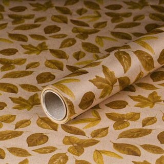 Gift wrapping paper Autumn Leaves 0,7 x 10 m, kraft...