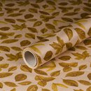 Gift wrapping paper Autumn Leaves 0,7 x 10 m, kraft paper, roll
