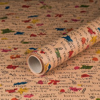 Gift wrapping paper Colors, kraft paper, smooth, 60 g/m²...