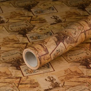gift wrapping paper Paris 10 x 0,7 m, kraft paper