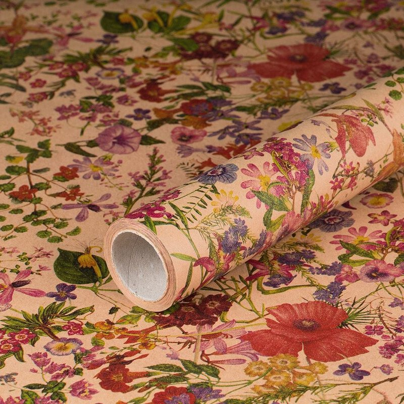 gift wrapping paper Spring 10 x 0,7 m, kraft paper