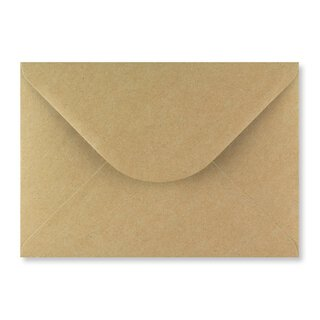 Envelope C5, brown, smooth, recycled paper, wet glue