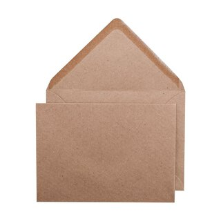 Envelope C6, brown, smooth, recycled paper, wet glue