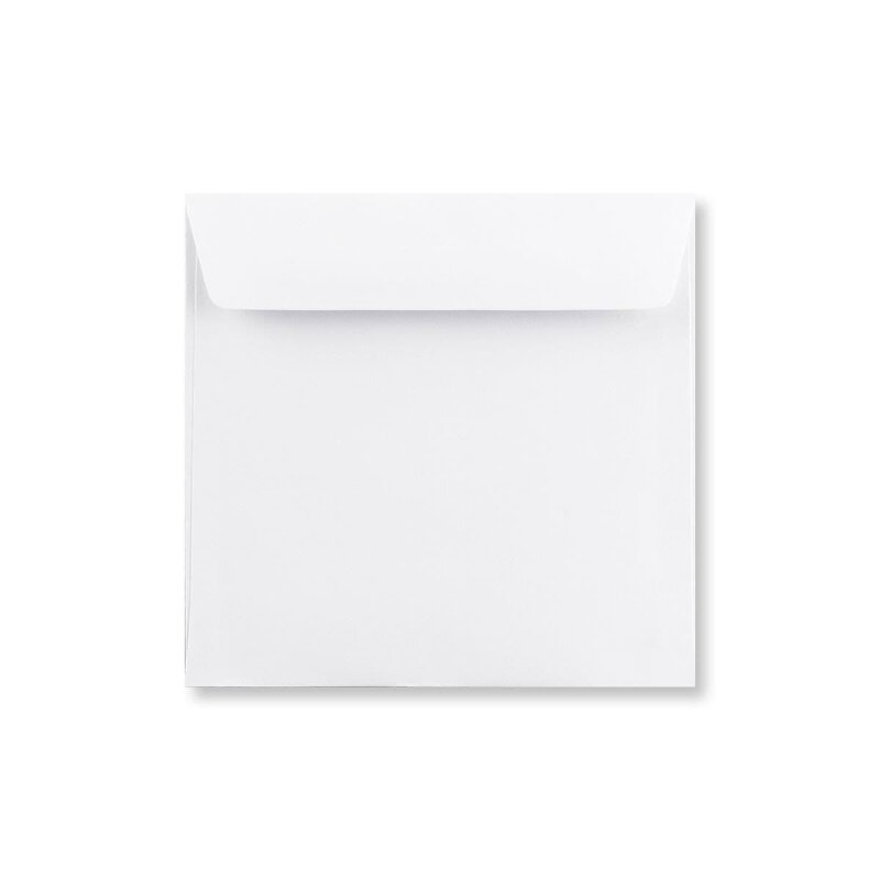 Square envelope 155 x 155 mm, white, smooth, self-adhesive