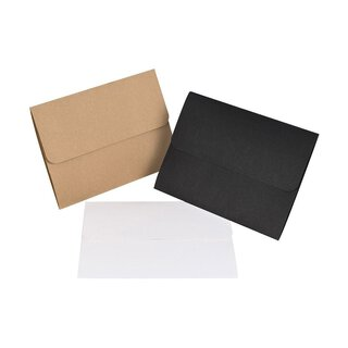Folder 15 x 21 cm x 3 mm, brown, black or white, with...
