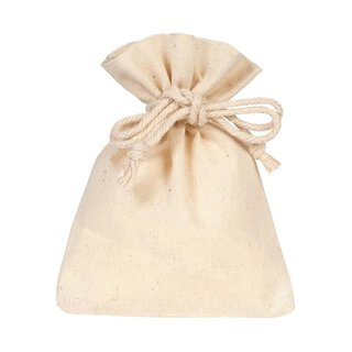 Cotton bag with drawstring, natural, different sizes