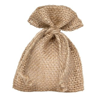 Gift  bag with cord, natural, different sizes, jute