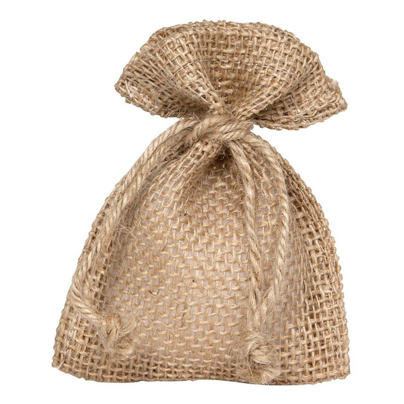 Gift bag with cord, natural, 17 x 24 cm, jute