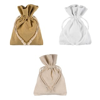 Cotton bag with drawstring, 12 x 17 cm, different colors