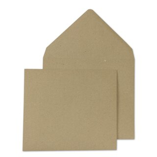Square Envelope, 130 x 130 mm, brown, smooth recycled paper