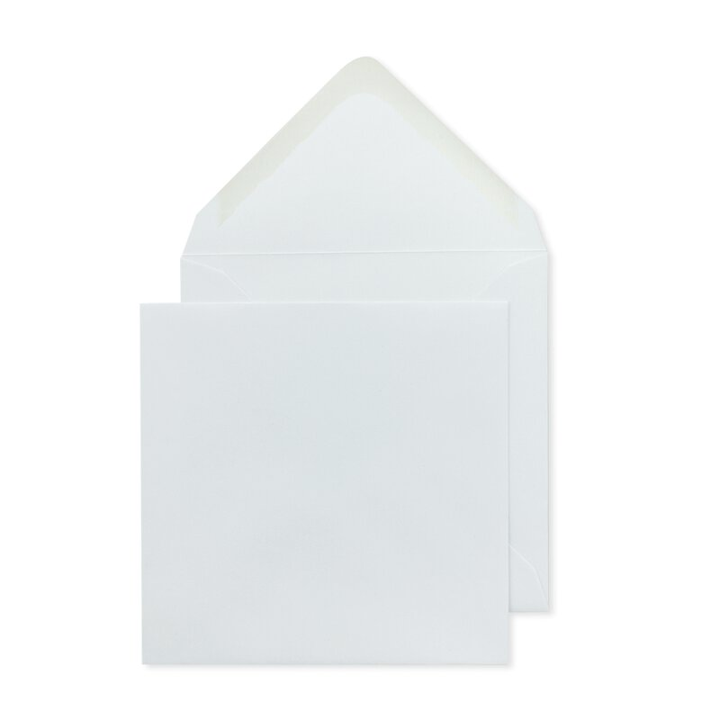 Square Envelope, 130 x 130 mm, white, smooth, gummed