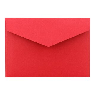 Envelope C6, Dark red, smooth, self-adhesive closure