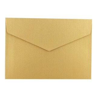 Envelope C6, Gold Pearlescent, self-adhesive closure