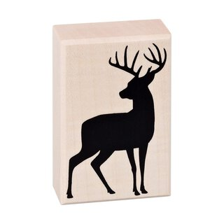 Wooden stamp stag 45 x 70 mm