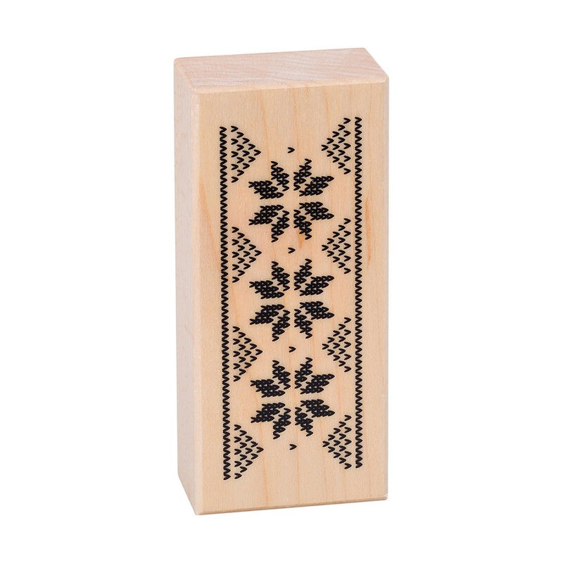Wooden stamp Norwegian frieze 85 x 36 mm