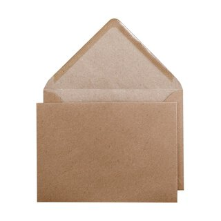 Envelope B6 125 x 175 mm, smooth, brown, recycled paper,...