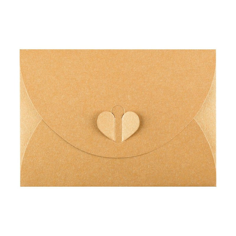 Envelope C6, Gold with butterfly closure, very stable