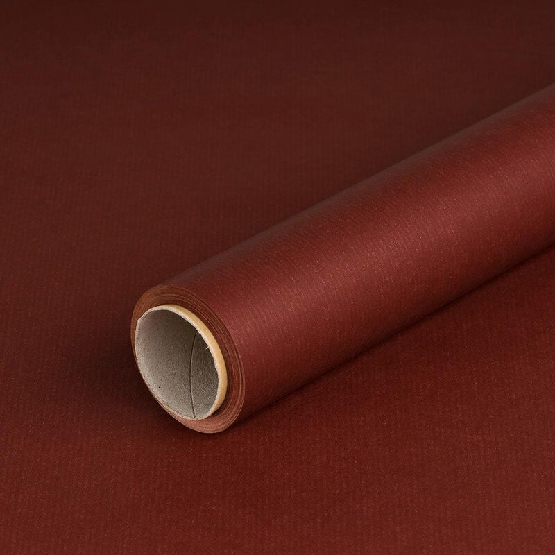 Wrapping paper red-brown 0,7 x 10 m, kraft paper, ribbed, roll
