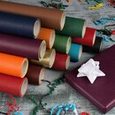Wrapping paper 2 colors red-gold, 0,8 x 10 m, kraft paper, roll