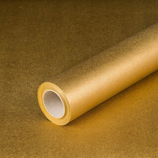 Gift wrapping paper Gold 0,7 x 10 m, Recyclingpaper