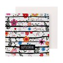 12 Vouchers Colorful flowers, 12 x 12 cm, 6 pages, with envelope
