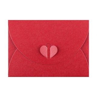 Envelope C6, Red with butterfly closure, very stable