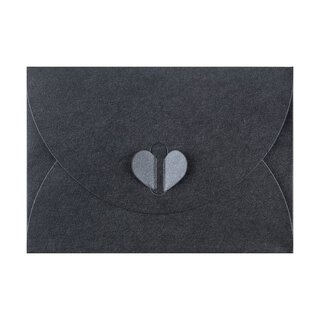 Envelope C6, Slate grey with butterfly closure, very stable