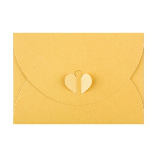 Envelope C6, Yellow with butterfly closure, very stable