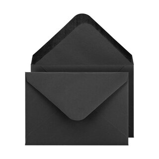 Envelope C6, black, smooth, paper, wet glue