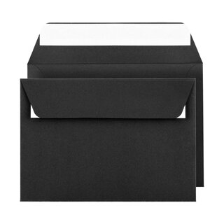 Envelope C6, smooth, black, straight flap, paper,...