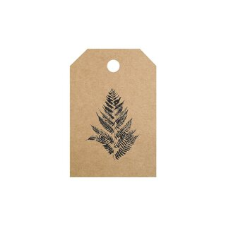 50 Hang tags »Fern« gift tags, printed labels, brown