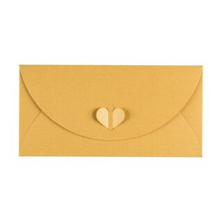 Envelope DL, Gold with butterfly closure, Premium cardboard