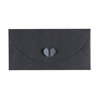 Envelope DL, Anthrazit with butterfly closure, Premium...