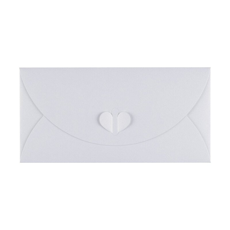 Envelope DL, White, with butterfly closure, Premium cardboard