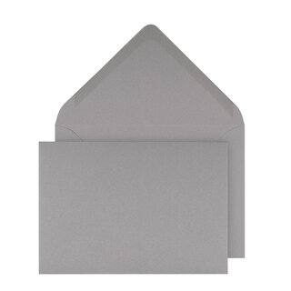 Envelopes C6, light grey smooth, gummed