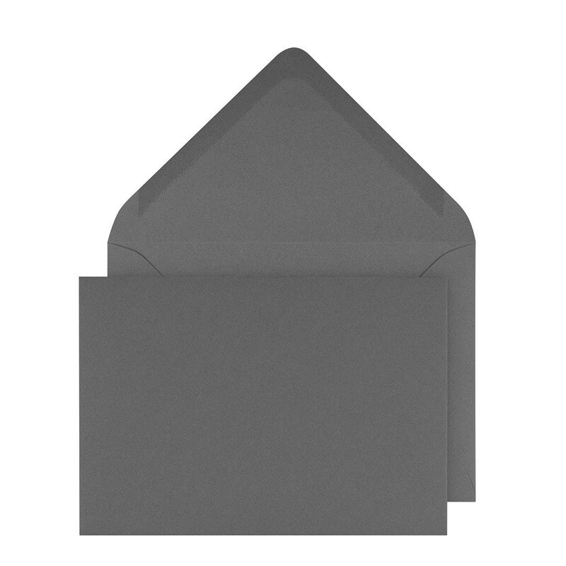 Envelopes C6, dark grey smooth, gummed