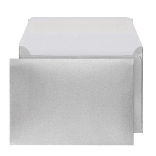 Envelopes C6, silver, peel and seal wallet