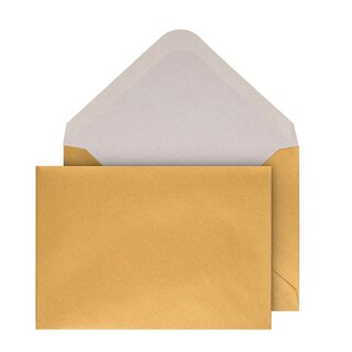 Envelopes C6, Gold, shiny, gummed