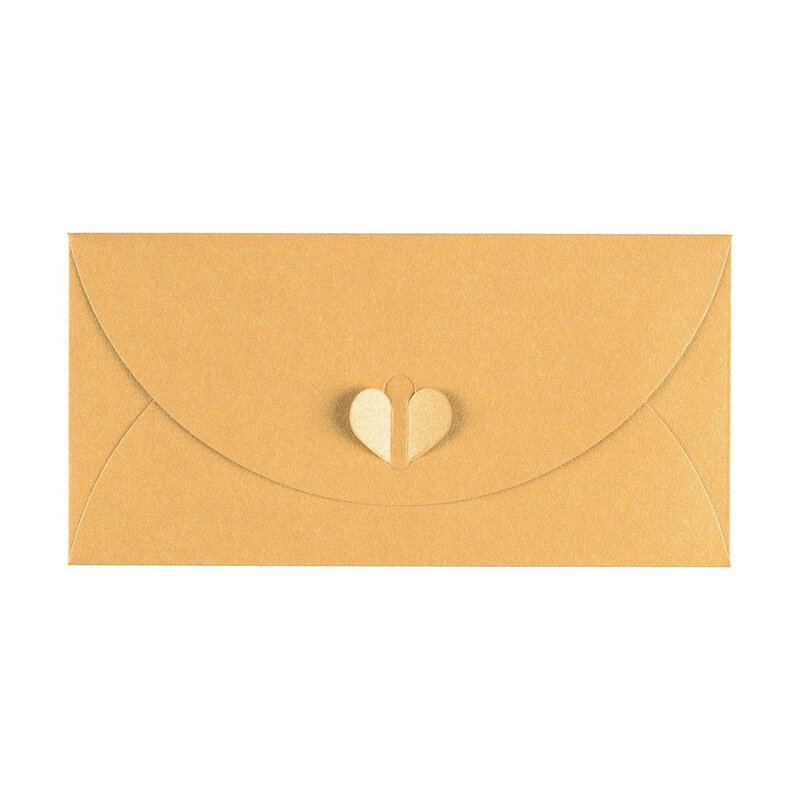 Envelope DL, Yellow, with butterfly closure, Premium cardboard