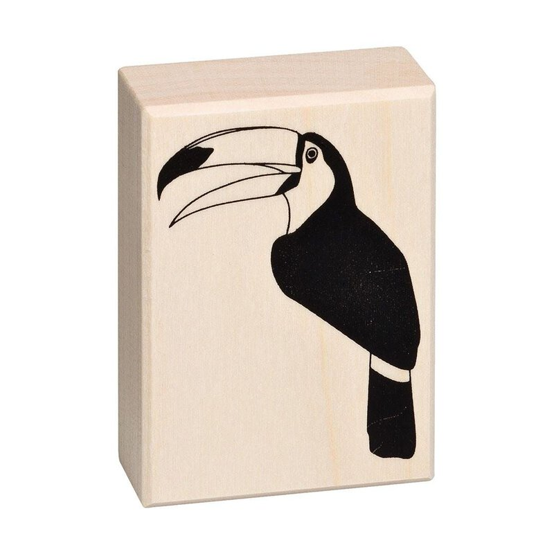 Wooden stamp toucan 50 x 70 mm
