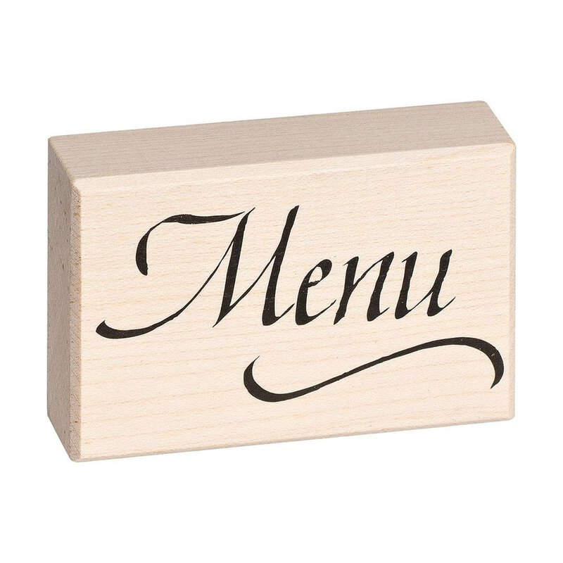 Wooden stamp Menu 70 x 45 mm (Typ F)
