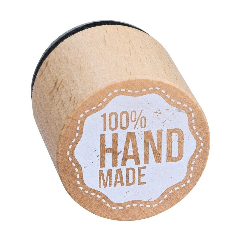 Wooden stamp 100% Hand made  33 x 33 mm, Woodies