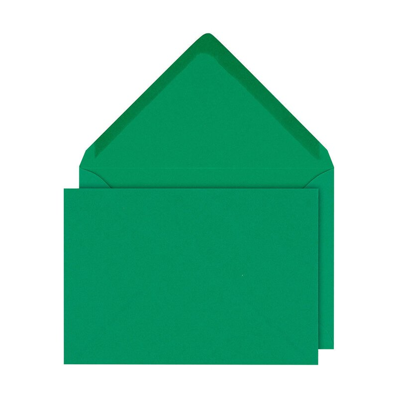 Envelope C6, fir green, smooth, gummed