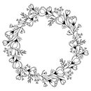 Wooden Stamp Floral Wreath 37 x 100 mm, contour stamp