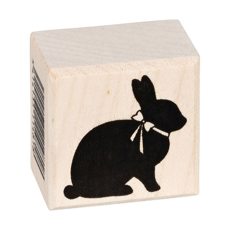 Wooden Stamp chocolate rabbit  31 x 31 mm